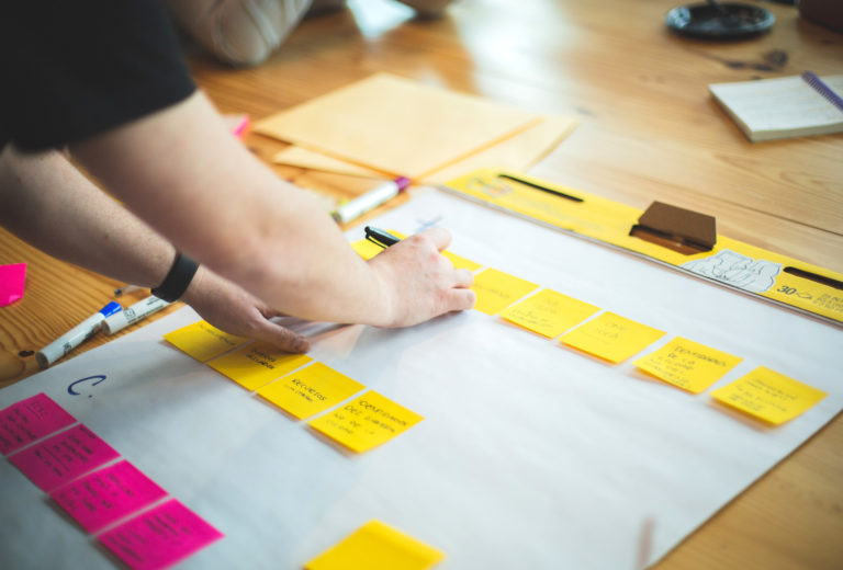 desarrolla tu idea post-it formación