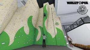 Vista del rocódromo en 3D por Walltopia